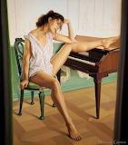 Piano leg