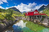 Beautiful Norwegian natural landscape