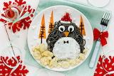 penguin pasta dish