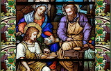 Stained glass, Holy Family