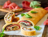 Cheese and salami roll up