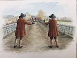 Wardens on Wallingford Bridge by Susan Ray at Wallingford Museum
