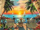 Tropical sunset by Dominic Davison