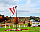 Picturesque Patriotic View of an American Landscape