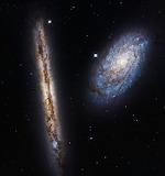 NGC 4302 & NGC 4298, ESA NASA, M. Mutchler (STScI)