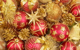 Red and gold ornaments