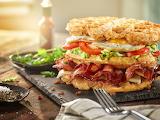 Triple Decker Breakfast Sandwich
