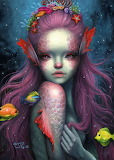 Mermaid Colourful by Happy D.