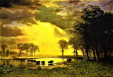 The Buffalo Trail-Albert Bierstadt