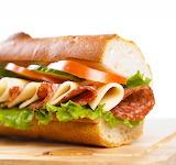 ^ Lunch sub sandwich