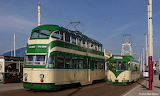 Blackpool Balloon 717 and Brush Car 621