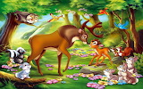 Deer-Bambi-and-Great-Prince-of-the-Forest-and-friends-Hd-Wallpap
