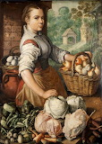 Girl With Vegetables - Joachim Beuckelaer 1566