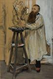 Rodin in his Studio - JF Raffaelli 1889