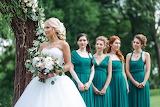Girl, bride, dress, friend, beautiful, bouquet, wedding, nature
