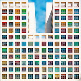 Building with colourful windows