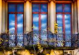 Blue-sky-Italy-window-architecture-balcony