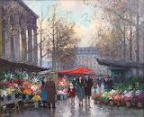 Edouard Cortès, Marché Aux Fleurs, Paris