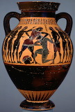 Theseus and Minotaur on an Amphora, Greece 550–530BC