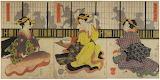 Geisha Playing the Hand-Game Kitsune-ken (狐拳), a Japanese rock-p