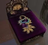 Purple velvet quilt
