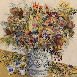 Painting of a dried bouquet of flowers