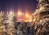 Arctic light pillars jan 2020 by Andy-Pritchard