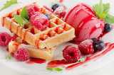 it's for me!-berries waffles