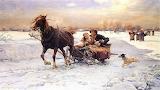 Alfred Wierusz Kowalski-malarstwo