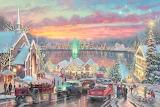 Colours-colorful-The Lights of Christmastown-Thomas Kinkade