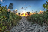 Sunrise at South Beach. Photo by Bob Bernier‎