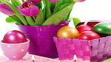 #Easter Eggs and Tulips