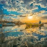 Calm lake fishing