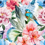 flowers bird picture