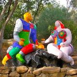 sculptures by Niki de St.Phalle