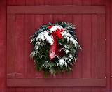^ Wreath on the old barn door