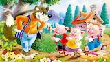 Three3-Little-Pigs-the-cunning-Wolf-Childrens Faity tale