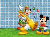 A Goofy & Mickey Easter