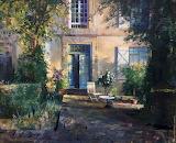 The Garden House by Simeon Nijenhuis - oil painting-wooarts-09