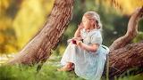 Girl - child - summer - nature - trees
