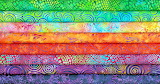 Bright, Colorful Fabric Stack