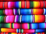 Colorful crochet neon blanket