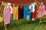 ^ Makeshift clothesline