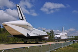 Space Shuttles Enterprise and Discovery nose to nose
