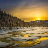 Winter sunset Idaho