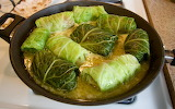 ^ Beef stuffed cabbage rolls