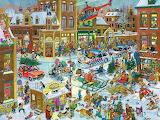 Christmas Downtown Traffic