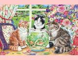 Cat Fishbowl Fun
