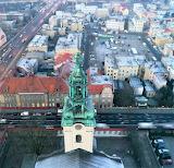 Tower Baroque Church of Holy Cross Lezno Poland