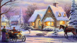Christmas-By Thomas Kinkade